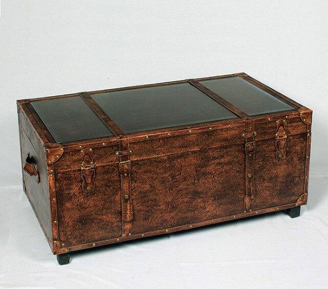 Antiguo europeo hacer el viejo de madera caja de vidrio espejo mesa ...