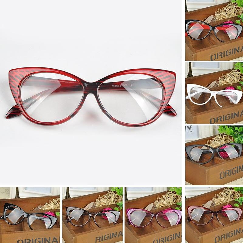 Fashion choice Cat\'s Eye glasses frames shape Plain glass spectacles ...