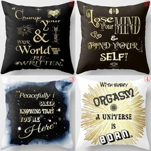 Creative design english  letters  world  mind  men women square pillow case snow pattern case creative coffee bean world map pattern square shape flax pillowcase without pillow inner