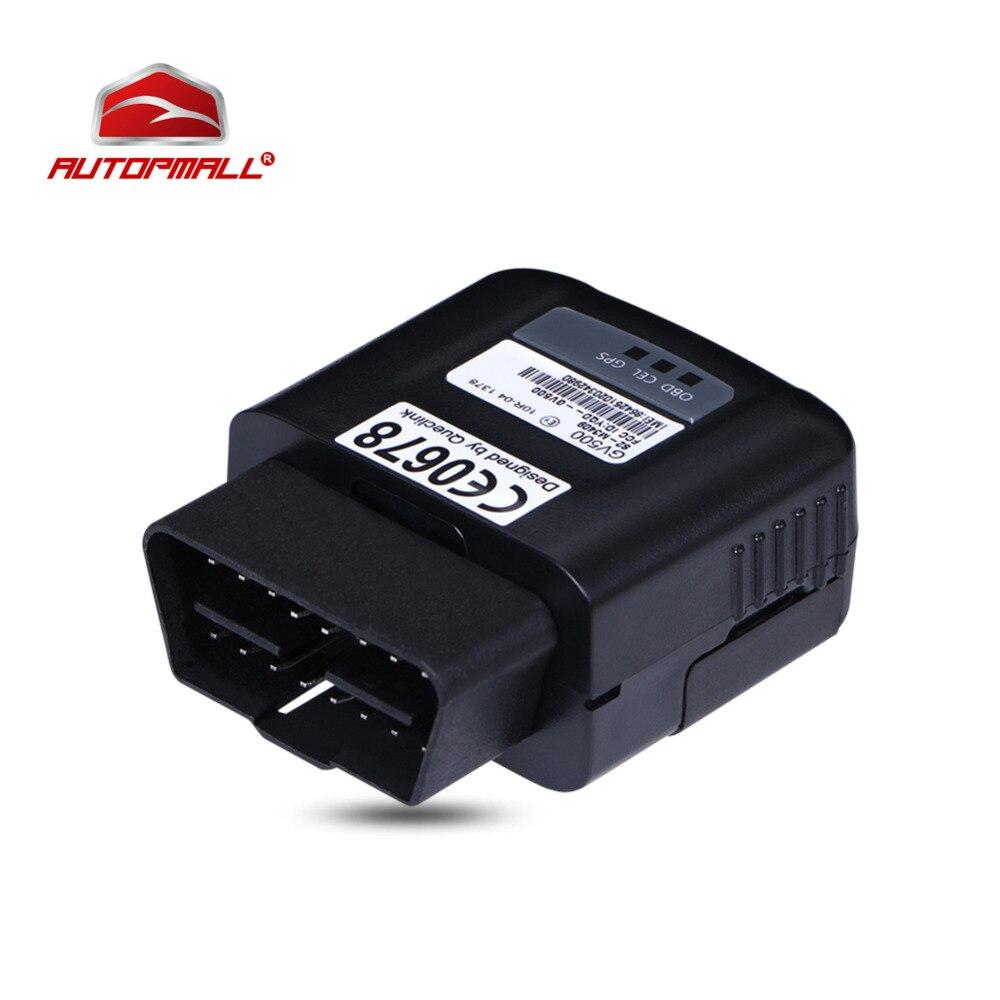 Obd-трекер gv500 gsm GPS gprs obd устройства слежения OBDII 130 мАч литий-полимерный 8-32 В в реальном времени состояние транспортного средства мониторинга