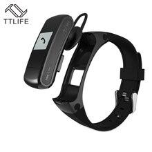 2016 TTLIFE Бренда Smart Браслет монитор сердечного ритма Смарт Bluetooth спортивные часы браслет со съемной Bluetooth гарнитура