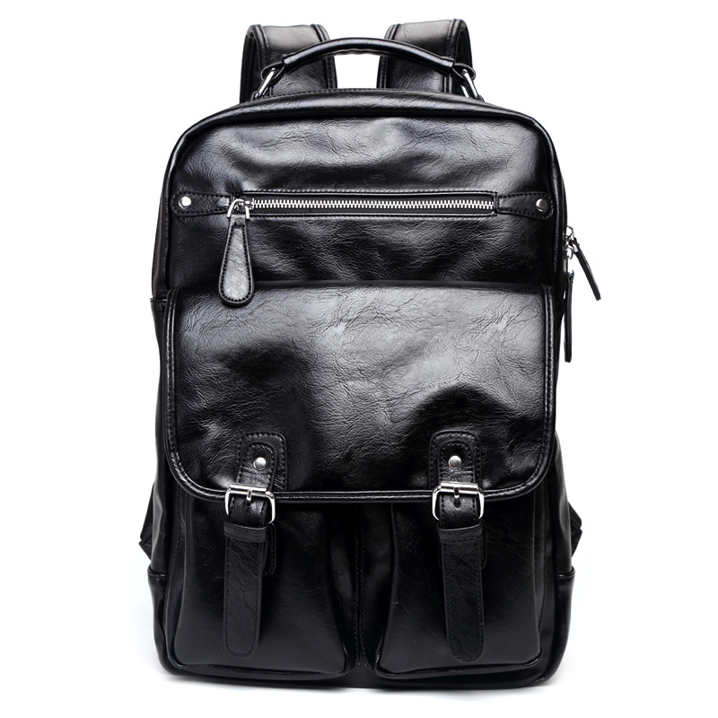 New Pu Shoulder Bag Mens Korean Edition Chao Mens Fashion Backpack Students BagNew Pu Shoulder Bag Mens Korean Edition Chao Mens Fashion Backpack Students Bag