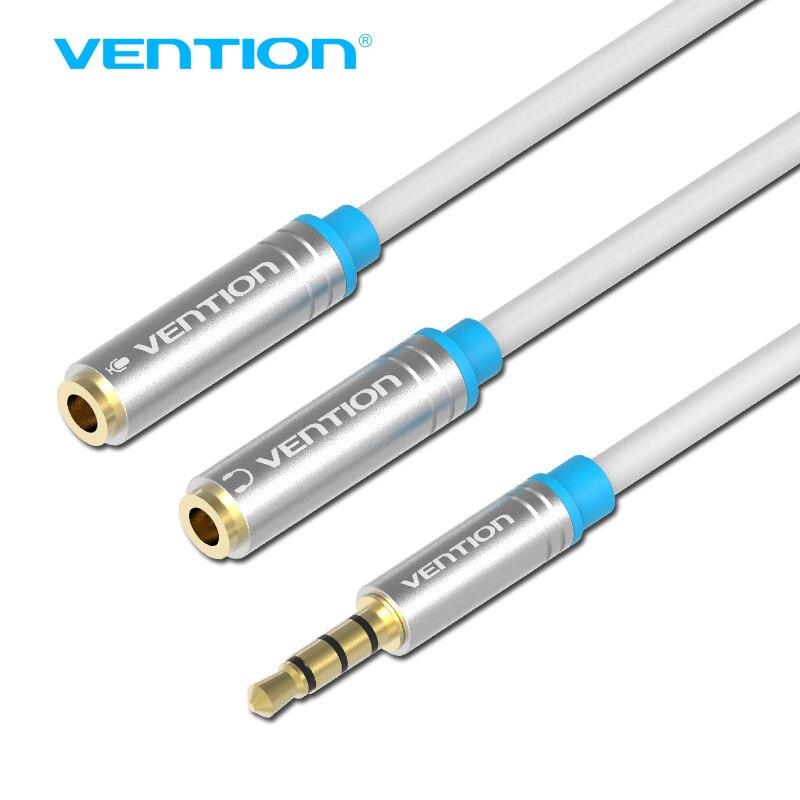Конвенция Джек 3.5 мм Mic + Наушники Splitter Аудио кабель позолоченный 3.5 мм Aux кабель шнур для микрофон компьютера телефона