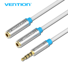 Vention Jack 3.5mm Mic + Headphone Splitter Audio Cable Gold-Plated 3.5 mm Jack Aux Cable Cord for Computer Microphone Cellphone
