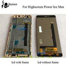 "100% geprüft Hohe Qualität für Highscreen Power Eis Max LCD Display touchscreen digitizer panel sensor Montage rahmen 5,3"""