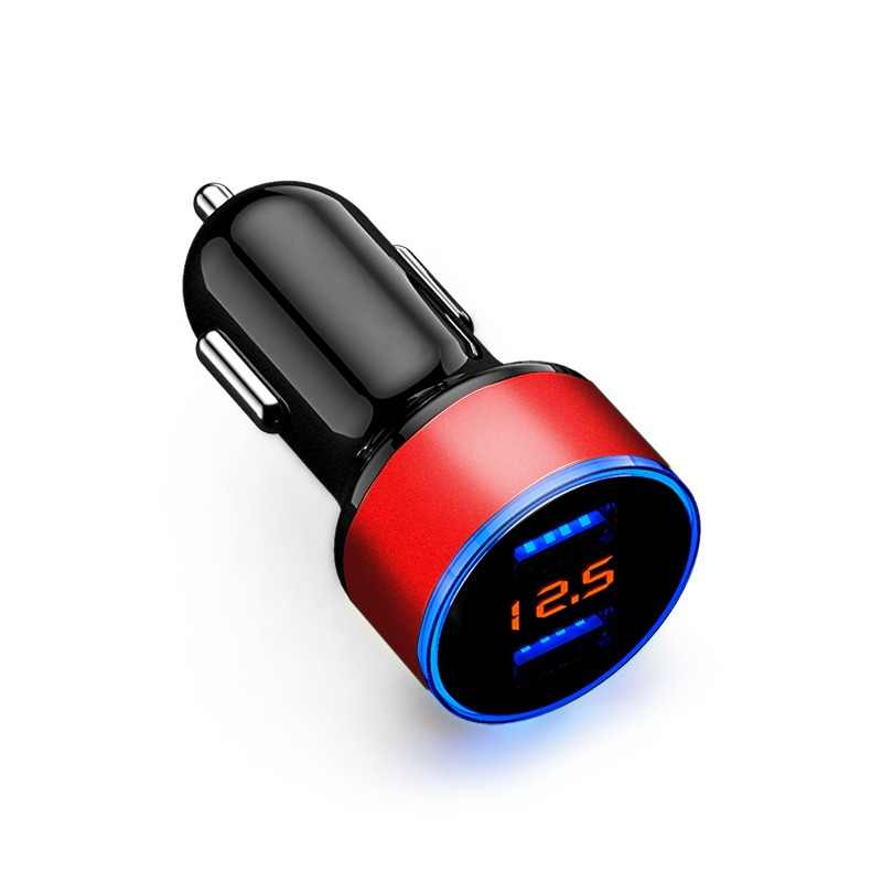 12V-24V Car Charger Voltage Display Splitter Cigarette Lighter Socket Fast Charger on USB Quick Charge Adapter Auto Accessories