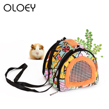 Portable Hamster Carrier Warm Comfortable Outdoor Travel Breathable Hanging Bag For Small Animals Guinea Pig Puppy