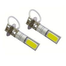 2pcs H3 Fog Lights LED COB Motorcycle Headlight Lamp Bulb AC/DC 12-24V Xenon Extremely Bright Light Bulbs