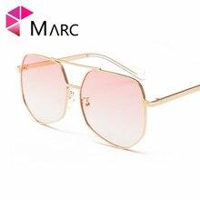 MARC 100%UV400 WOMEN MEN 2018NEW Brand Eyewear Shield Goggle Gradient Design Clear Trendy Sunglasses Gafas Oculos Alloy Resin