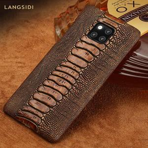 Image 1 - Funda de teléfono de lujo de cuero genuino para Huawei Mate 20 pro P40 Pro P30 Lite P20 Pro Y7 Y9 para Honor 20 Pro 10 Lite 8X 10i