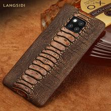 Genuine Leather Luxury phone case for Huawei Mate 20 pro P40 Pro P30 Lite P20 Pro Y7 Y9 Cover For Honor 20 Pro 10 Lite 8X 10i