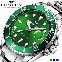 FNGEEN Men Watch Luminous Water-resistanr Men Automatic Mechanical Stainless Steel Luxury Business New Fashion Wristwatch olga berg olga berg ol001bwksq35