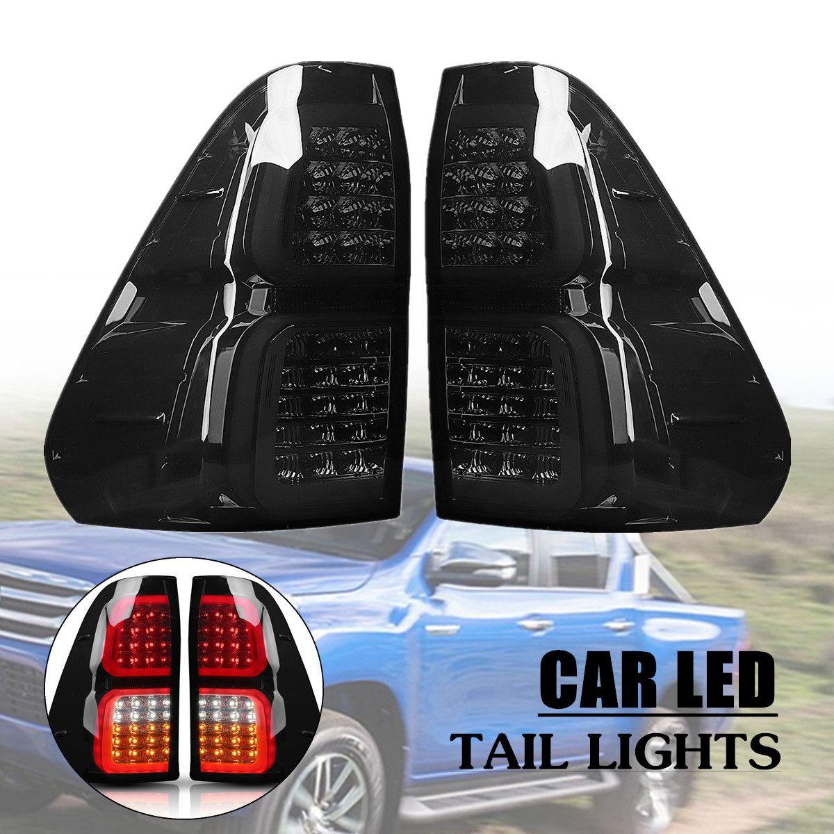 Копченый светодио дный задние фонари тормозные лампы для Toyota Hilux Vigo Revo 2018 2016 ABS 32x38 см легко установить