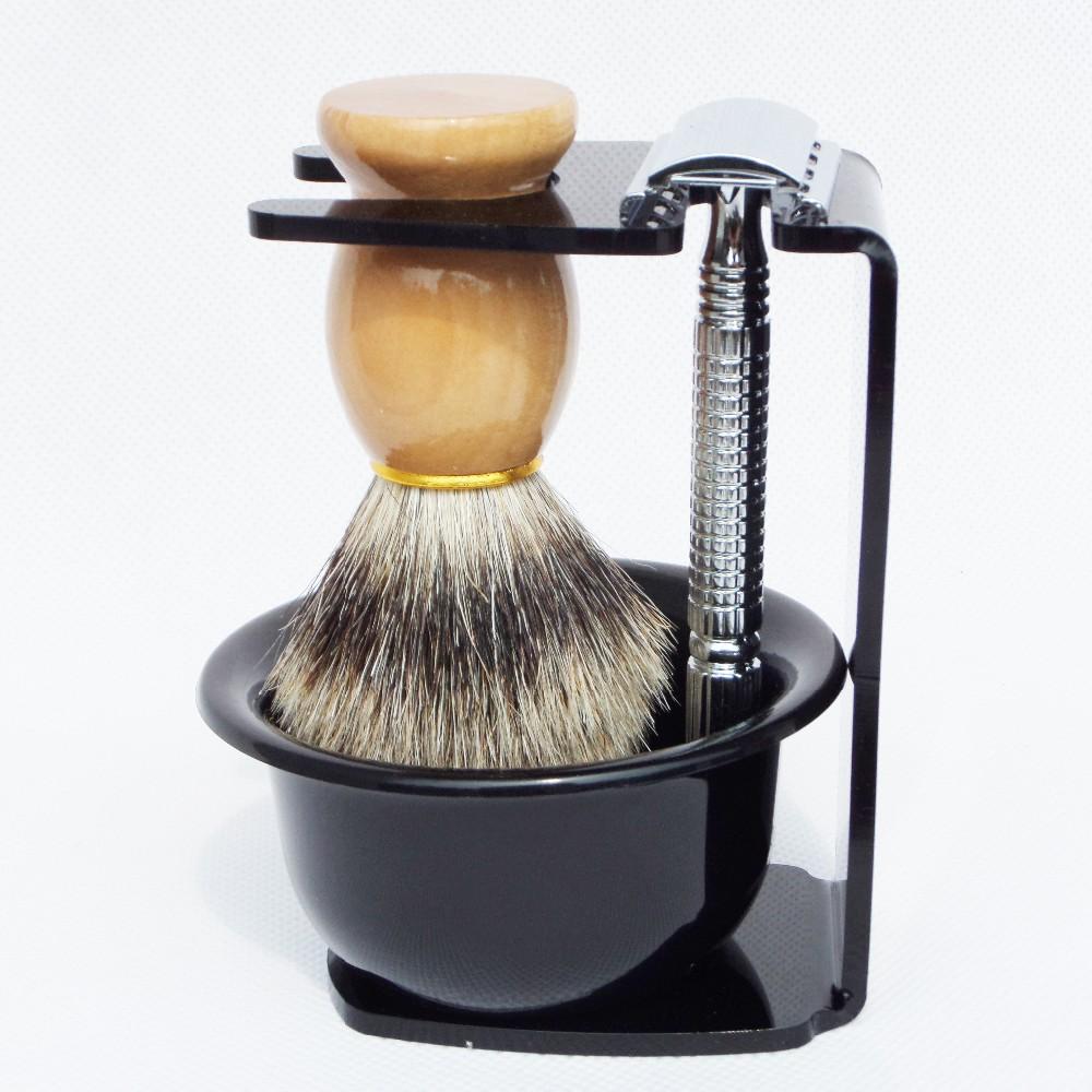 badger shaving brush set