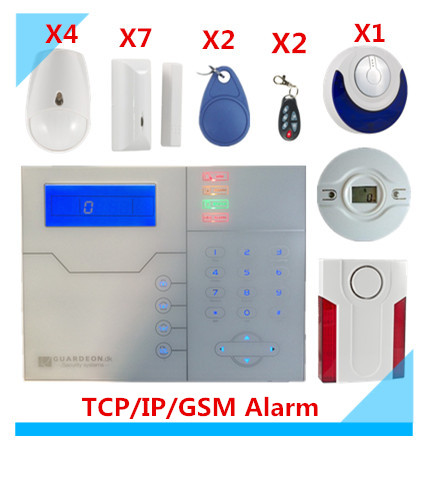 Free Shipping 868Mhz RFID fuction wireless TCP/IP GPRS  GSM Alarm system Smart Home Security Alarm System With App free shipping wireless tcp ip gsm alarm system home security alarm system smart alarm system with external siren
