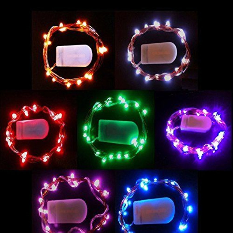Multi-Color 1m 2m Length Battery Operated Copper Wire Mini Fairy Light String Good Gifts Wedding Party Holiday Decor