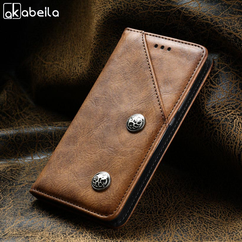 AKABEILA Vintage Case For Oukitel K4000 Cases Flip Magnetic PU Leather 5.0inch Cover For Oukitel K4000 lite Covers Fundas Coque