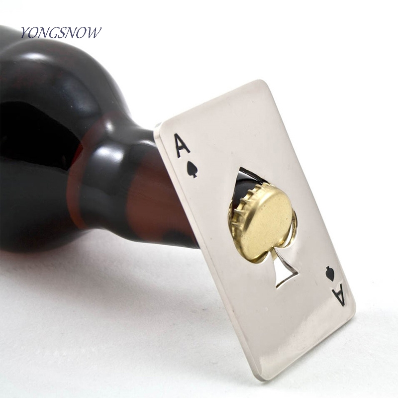 Poker Card Beer Bottle Opener Stainless Steel Wedding Party Banquet Gift Souvenirs Kitchen Dining Bar Tools Table Decor Favors