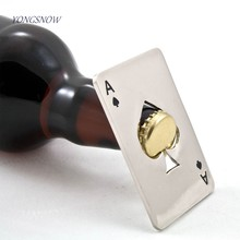Poker Card Beer Bottle Opener Stainless Steel Wedding Party Banquet Gift Souvenirs Kitchen Dining Bar Tools Table Decor Favors(China)