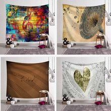 Wall Hanging Music Note Tapestry Bedspread Home Decor Hippie Art Background Decorative Mandala Table Cloth Sheet Mat Beach Towel(China)