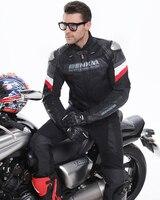 2018 осень зима Benkia мотоциклетная куртка Для мужчин ветрозащитный мотокроссе куртка Off Road Мотоцикл летную куртку Титан колодки