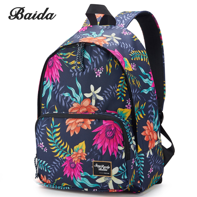 Water Lily Printing Girls Backpacks Cool Rope Zipper Daypack Bags Best Online Day Pack For Women ferrino o hare day pack