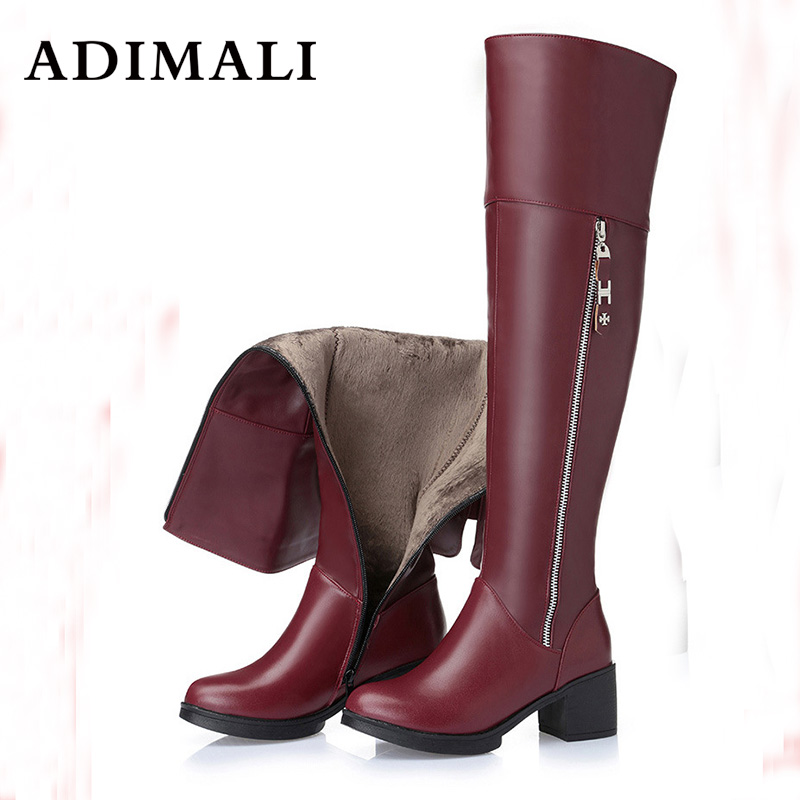 Hot New Women Over The Knee High Boots Stilettos fashion Sexy Autumn Winter black Boots Autumn Winter Genuine Leather Long boots dijigirls new autumn winter women over the knee boots shoes woman fashion genuine leather patchwork long high boots 34 43