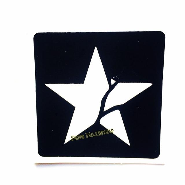 1 Stück Sterne Design Gefälschte Wasserdichte Tattoo Schablone