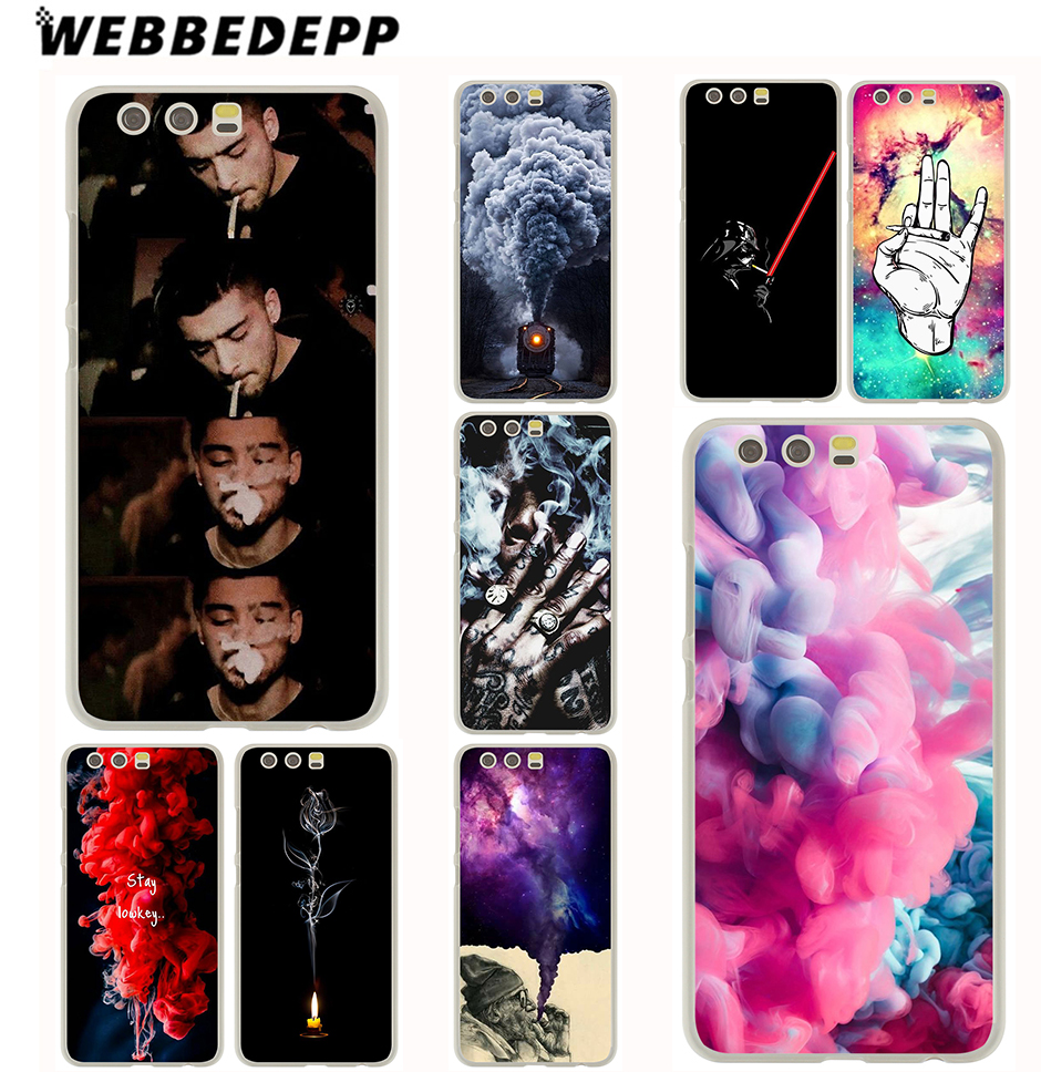 WEBBEDEPP Smoking Art Case for Huawei P20 P10 P9 P8 P7 G7 P6 P smart Lite Plus Pro & Nov ...