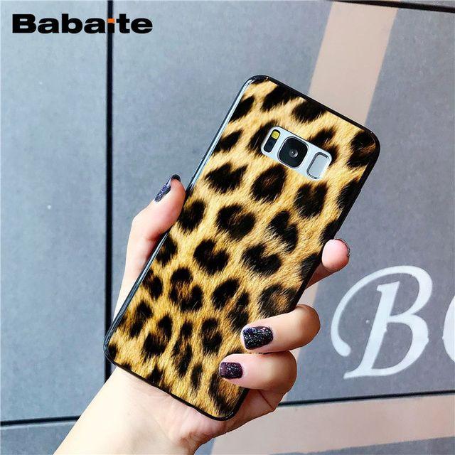 Babaite mode tigre léopard imprimé panthère étui de téléphone pour Samsung Galaxy S9 plus S7 edge S10 Plus S10E S20 S10lite S8 plus S5
