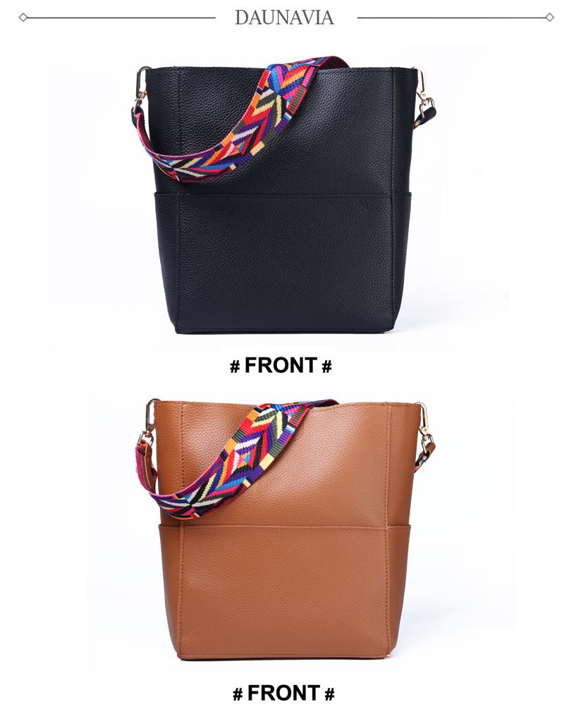 25e9474140fc Details about Bucket Women Bag Wide Strap Shoulder Bag Handbag Large  Capacity Crossbody Bag