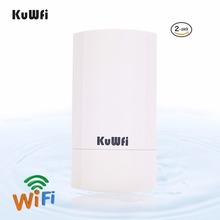 KuWFi 2KM Outdoor Wireless CPE Bridge Router Point-to-Point Wifi Repeater Extender Support WDS Gateway Wireless AP For IP Camera 5km point to point outdoor cpe 150mbps outdoor cpe wireless wifi repeater extender router ap wi fi bridge with poe adapter