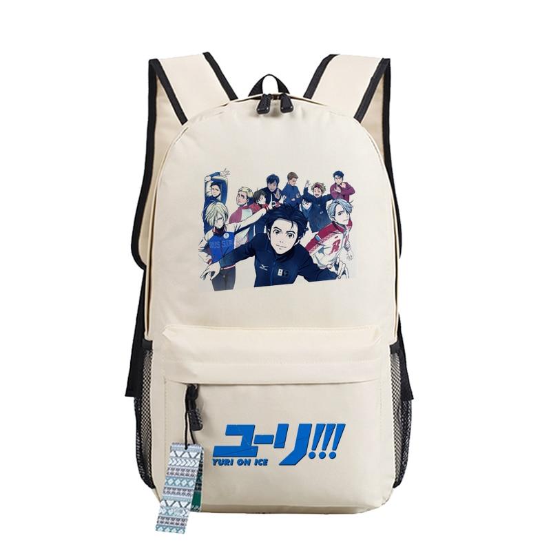 Image 2 - YURI on ICE Katsuki Yuri Women Backpack Canvas School Bags for  Teenage Harajuku Travel Bagpack Anime Laptop Back Pack Bookbagbackpack  schoolbackpack school bagschool bag laptop
