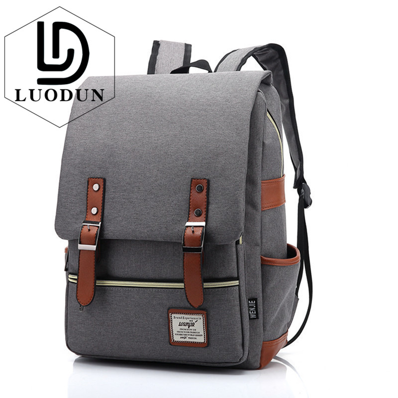 Luodun Men Laptop Backpack Women School Bag College Backpack With Usb Charging Port Fashion Backpack Fits 15 Inch Notebook