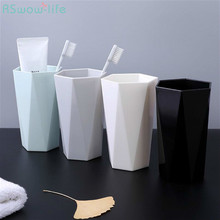 2 Pcs Household Wash Cup Couple Toothbrush Plastic Creative Simple Mouth Water For Bathroom Supplies