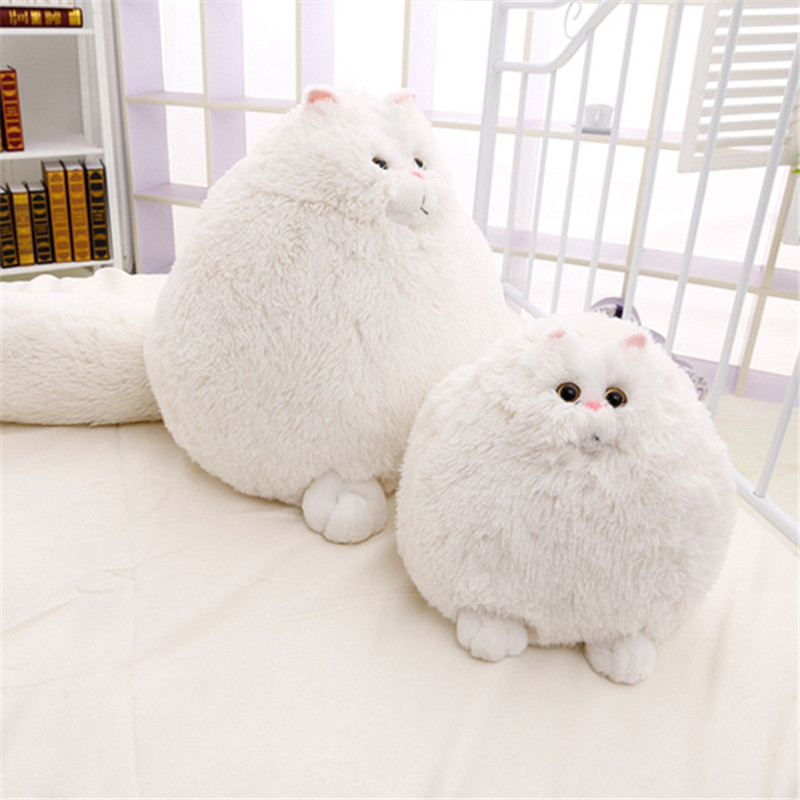 Fat Cat Stuffed Animal Fun Toys For Kids Plush Animal Gift White 12 Inches New