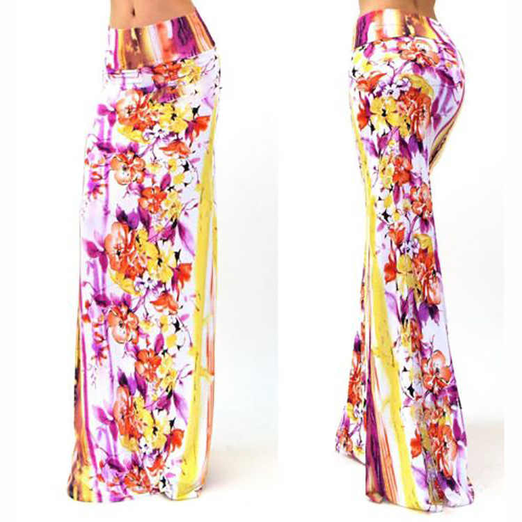 2017 Bohemian None Womens Top Cotton Polyester Floral Faldas And Posed Package Hot Style Of Tall Waist Hip Printed In The Sexy