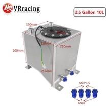 VR   2.5 galon 10L alüminyum yarış Drift yakıt hücresi tankı yakıt tankı seviye gönderen VR TK38