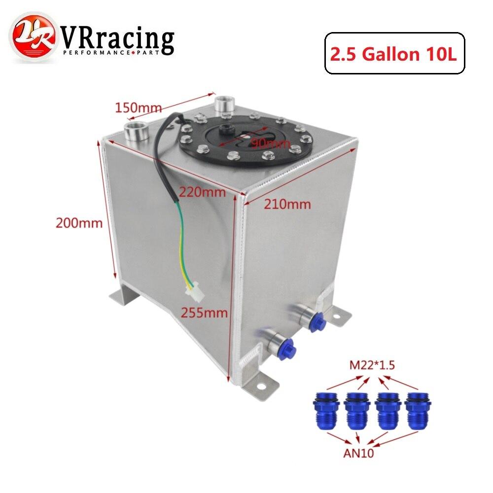 VR RACING 2,5 галлон 10л алюминиевый гоночный Дрифт топливных элементов бак перенапряжения топлива с уровнем отправителя VR TK38