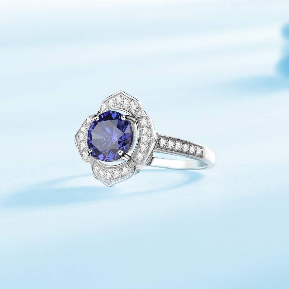 Image 5 - Kuololit Classic Tanzanite Ring Solid 925 Sterling Silver Rings For Women Brand Fine Jewelry Engagement Women GiftRings   -