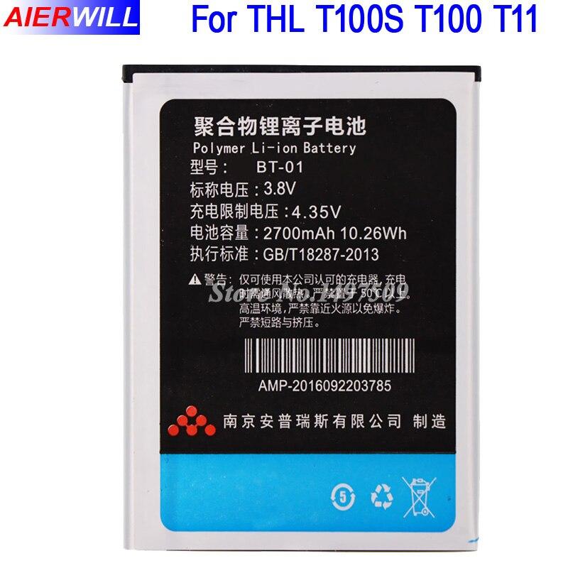 Pour THL T100S Batterie pour THL T100 T11 DNS S5008 Batterie Bateria ACCU AKKU 2700 mAh BT-01