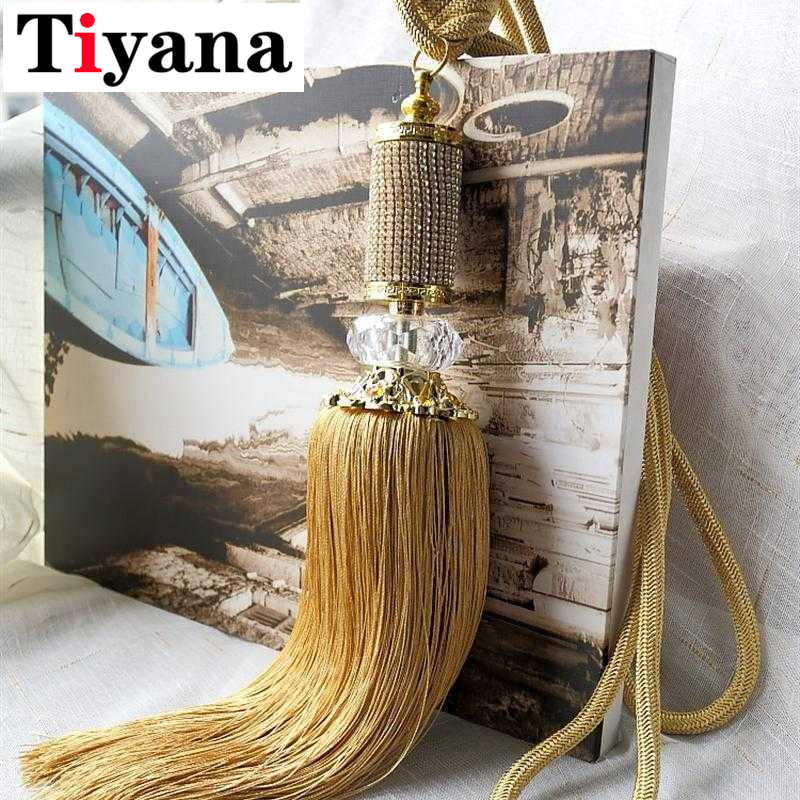 Shiny Tassel The New All Over The Sky Star Luxury Crystal Curtain Hanging Ball Tie Strap Bands Pendant Tassel Cp068#10