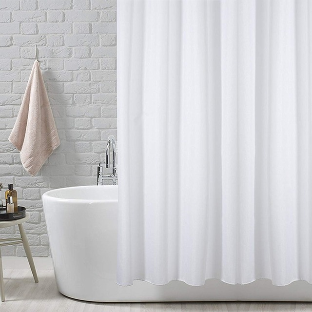 Feiqiong Mildew Resistant Anti Bacterial Polyester Shower Curtain Liner 72x72 180 X