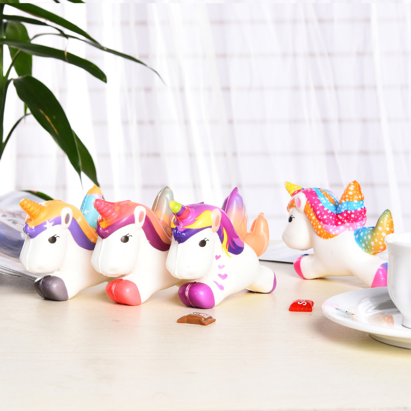Mobile Phone Straps Squishy Pegasus Unicorn Sports Entertainment Squish Antistress Novelty Gag Toys Stress Relief Anti Stress Fun Phone Strap Non-Ironing Mobile Phone Accessories