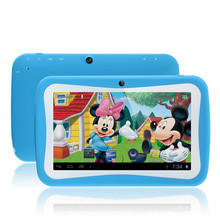 Newest 7 inch Kids Tablet PC RK3126 Quad Core 8G ROM Android 5.1 With Children Educational Apps Dual Camera PAD for Children