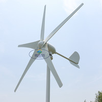 5 blades small wind mill low start up wind generator with water proof wind controller 600w rated 400watt wind generator
