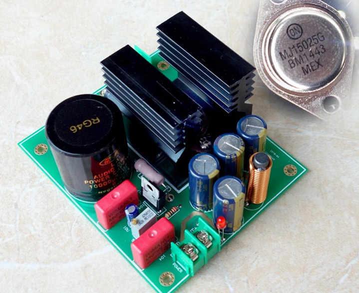 Złoty uszczelniony liniowy regulator prądu 5A na LM317 + MJL15025 płyta zasilająca