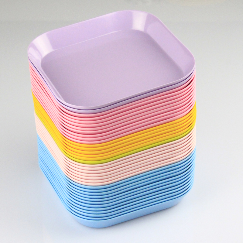 KORDCO plastic tray / candy color square water bowl / small fruit plate / snack tray wholesale-in Dishes u0026 Plates from Home u0026 Garden on Aliexpress.com ... & KORDCO plastic tray / candy color square water bowl / small fruit ...
