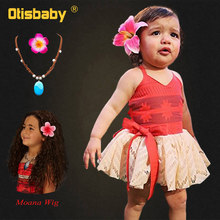 Baby Girls Moana Summer Dress Kids Tutu Bow Beach Sundress Toddldr Children Strap Backless Cartoon Princess Cute Cosplay Costume 2017 summer dresses for girls moana tutu princess girls dress children party cosplay chiffon kids clothes cartoon child costume