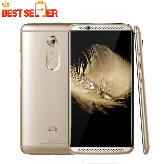 "New ZTE Axon 7 4G LTE Mobile Phone ROM 5.5"" 2K 2560X1440px Quad Core 4GB RAM 64GB 20MP Android 6.0 Fingerprint smartphone NFC"
